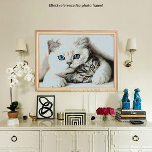 Cats Friendship Diamond Embroidery Art Kit