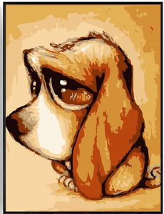 Little Dog with Big Eyes - Painting by Numbers
