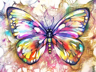 Diamond Painting kit - Colorful Butterfly Painting 4 Variants