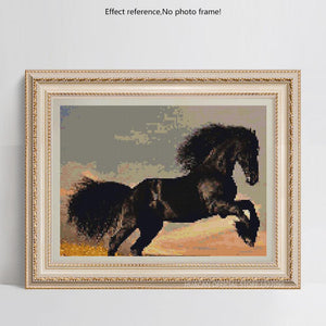 Black Horse Painting - DIY Painting Kit for Adults