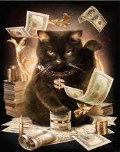 Load image into Gallery viewer, Rich Black Cat Boss - Painting by Numbers for Adults