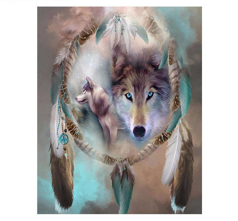 Paint by Numbers Wolf Painting