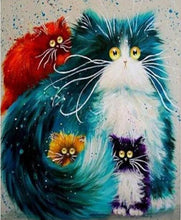 Load image into Gallery viewer, Paint by Number Cats Painting - Artistic GIFT