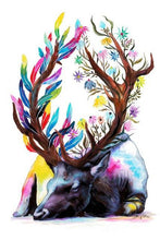 Load image into Gallery viewer, deer colorful diamond painting