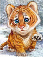 Load image into Gallery viewer, Cute Tiger Cub Square Diamond Drill