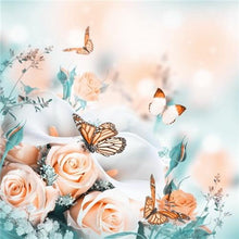 Load image into Gallery viewer, Roses and Butterflies - 5D Diamond Painting