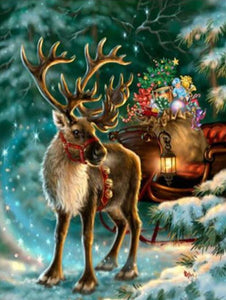 reindeer christmas diamond painting