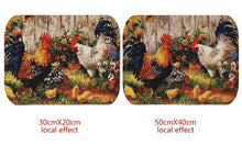 Load image into Gallery viewer, Chicken and Flowers Painting by Diamonds