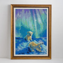Load image into Gallery viewer, White Bears Playing Diamond Art Kit
