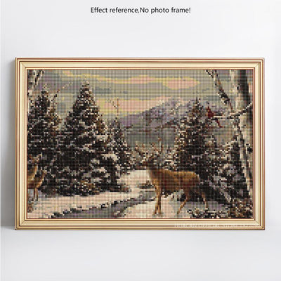 Deer in the Winter Diamond Painting