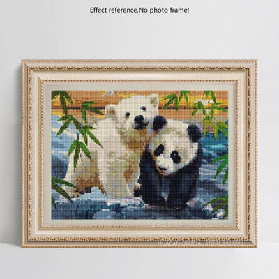 Adorable Baby Panda & Bear