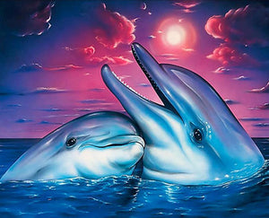 dolphins diamond painting