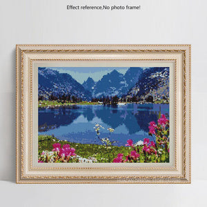Blue Water Lake Diamond Art Kit