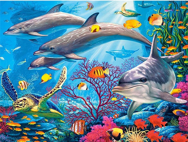 dolphin diamond painting