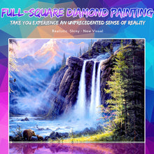Load image into Gallery viewer, Stunning waterfall View Painting with Diamonds