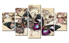 Load image into Gallery viewer, Butterfly 5 Piece Wall Art - Diamond Paintings