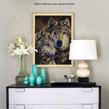 Load image into Gallery viewer, Wolves Painting