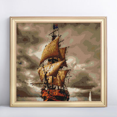 Ship in the Storm Diamond Art Kit