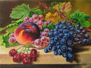 Paint Fruits with Diamonds