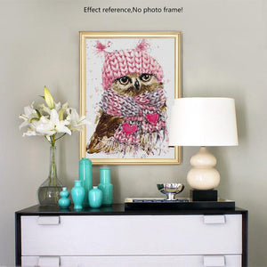 5D Owl Diamond Painting Kit for Adults