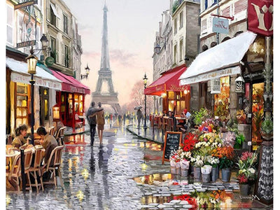 paris eiffel tower diamond painting kit