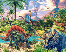 Load image into Gallery viewer, dinosaurs diamond painting