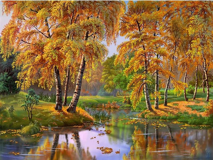 painting diamond autumn