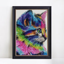 Load image into Gallery viewer, Colorful Cat DIY Diamond Painting