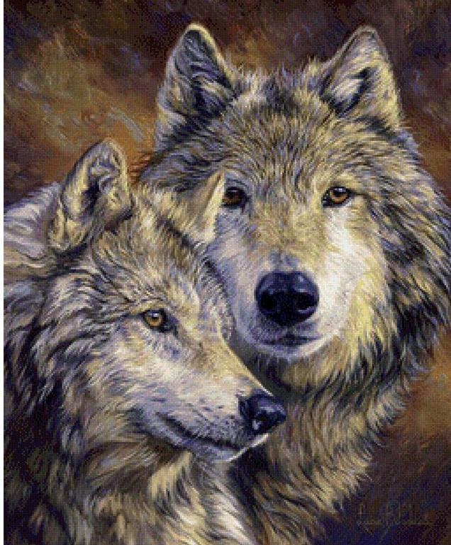 wolf diamond painting kit