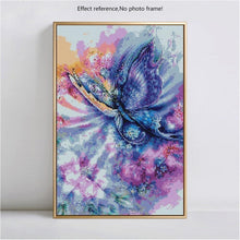 Load image into Gallery viewer, Colorful Flowers & Butterfly