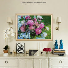 Load image into Gallery viewer, Floral Diamond by Numbers Kit - Colorful Flowers