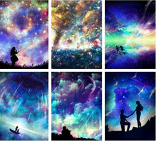 Load image into Gallery viewer, Sky and Galaxy Diamond Paintings