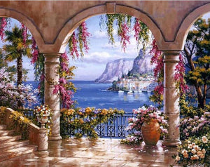 sea view landscape diamond painting