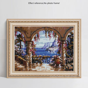 Ocean View from Balcony 5d Diamond Painting Kit