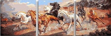 Load image into Gallery viewer, 3 Panels Painting - Horses - PBN