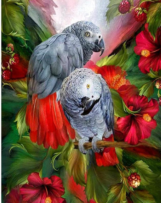 parrots diamond painting