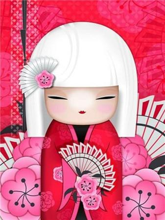 Japanese Doll DIY Paintings