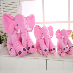 pink baby pillow elephant