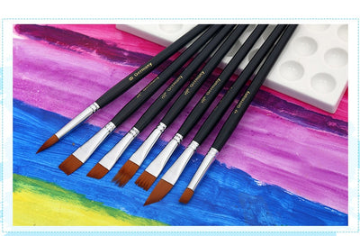 Nylon Hair Painting Brush Set - 12 Brushes