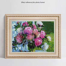 Load image into Gallery viewer, Flowers in Glass Vase
