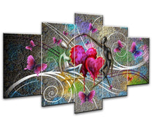 Load image into Gallery viewer, 5 piece Love Wall Art