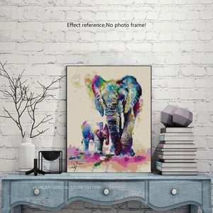 Colorful Elephant DIY Painting for Adults