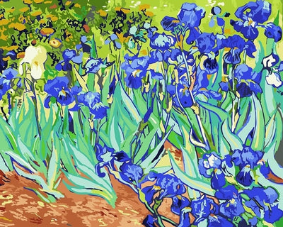 blue flowers van gogh painting