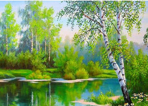 green lake diamond painting