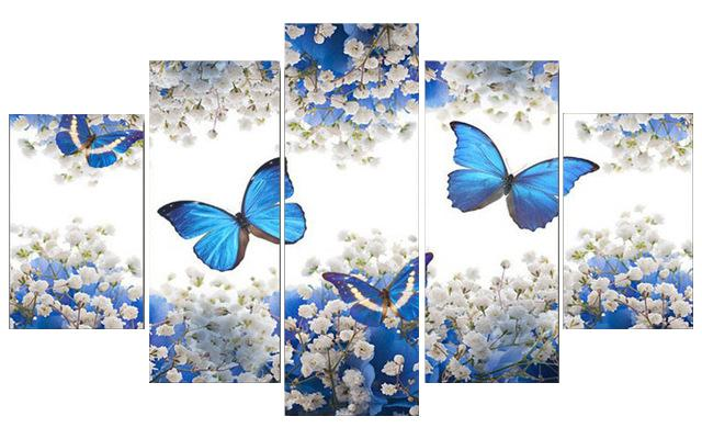 DIY 5 Paintings Wall Art - Butterflies