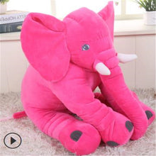 Load image into Gallery viewer, pink baby elephant pillow