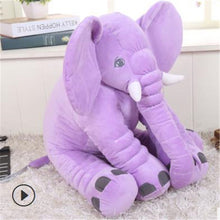 Load image into Gallery viewer, purple baby elephant pillow