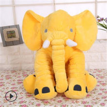 Load image into Gallery viewer, yellow elephant pillow