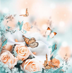 Roses and Butterflies - 5D Diamond Painting
