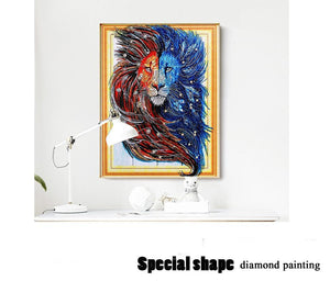 DIY Lion Diamond Painting